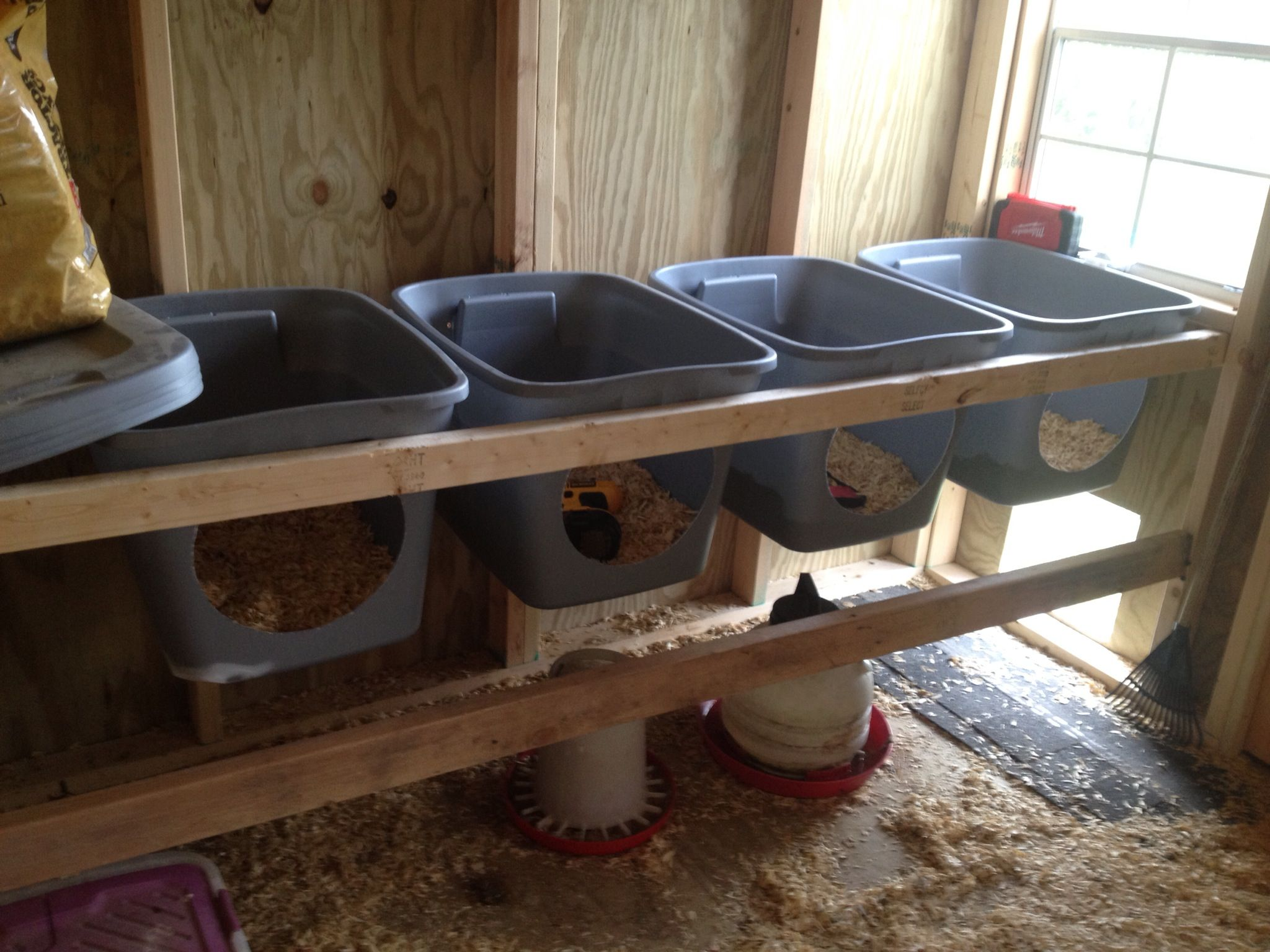 Nest boxes in my new chicken house made from Rubbermaid boxes ) & Nest boxes in my new chicken house made from Rubbermaid boxes ... Aboutintivar.Com