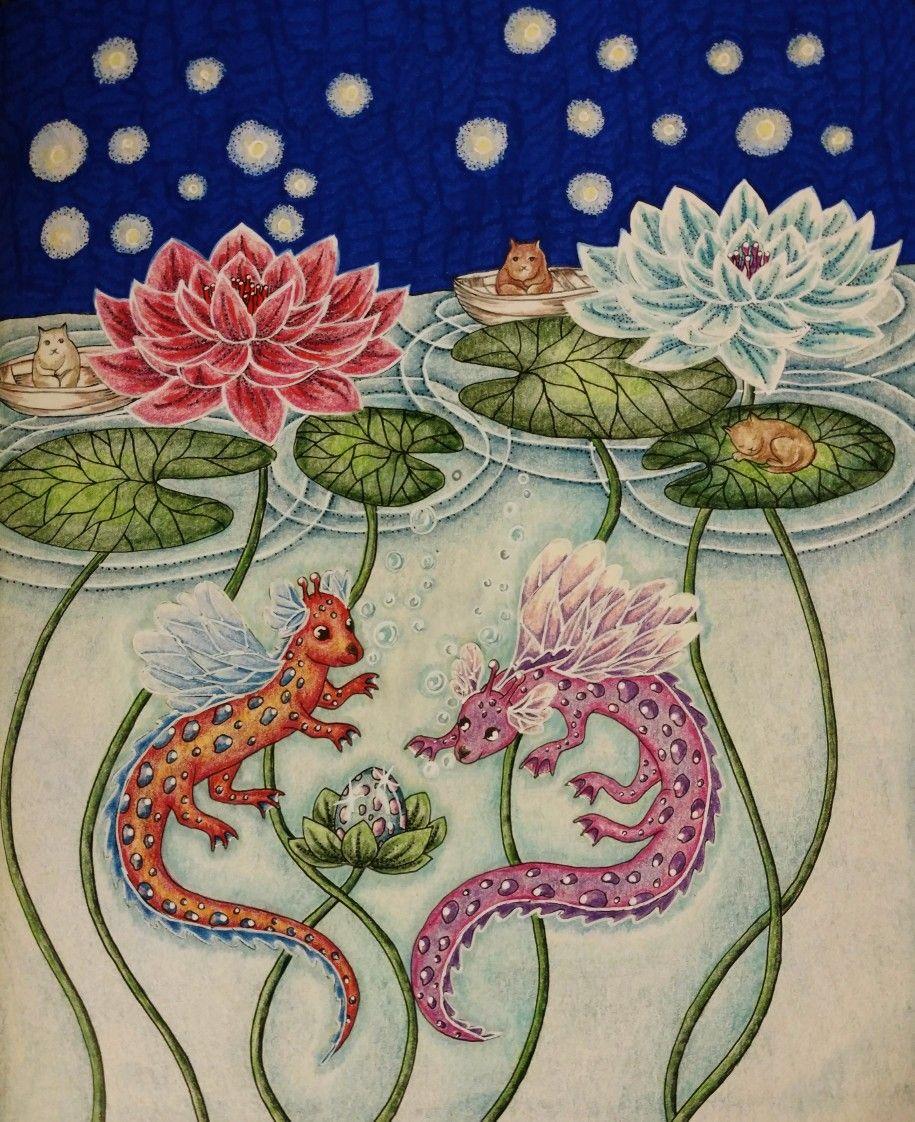 Nightfall Coloring Book Skymnings Timman Maria Trolle