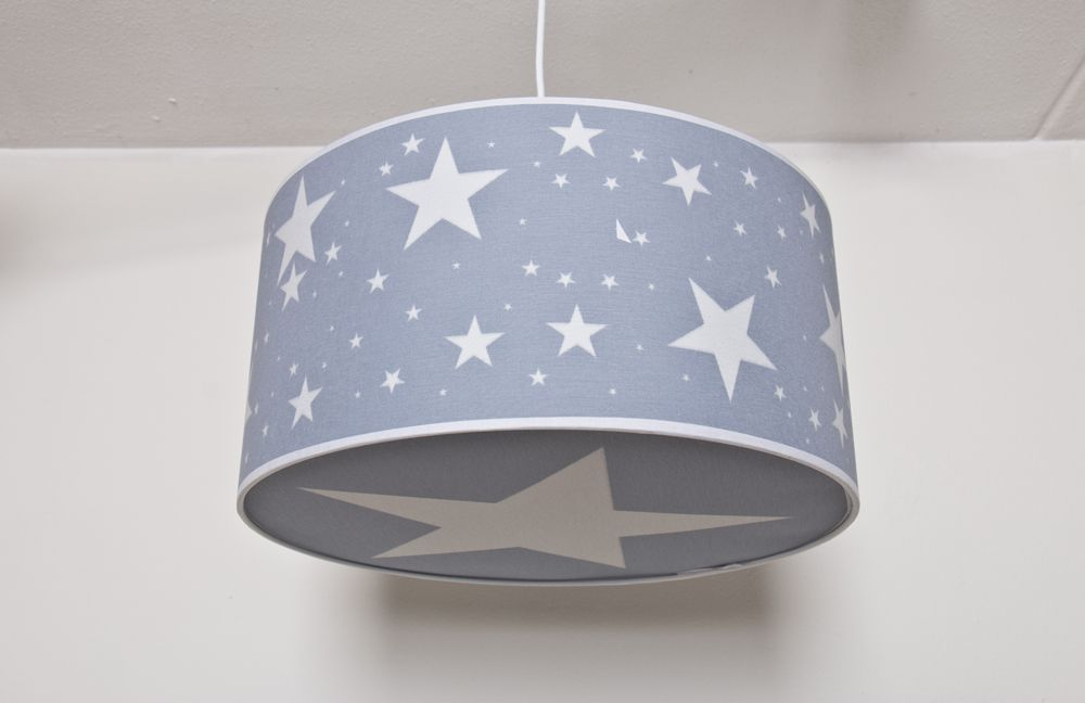 Lámpara infantil con estrellas de azul www habitación techo OPkiuZX