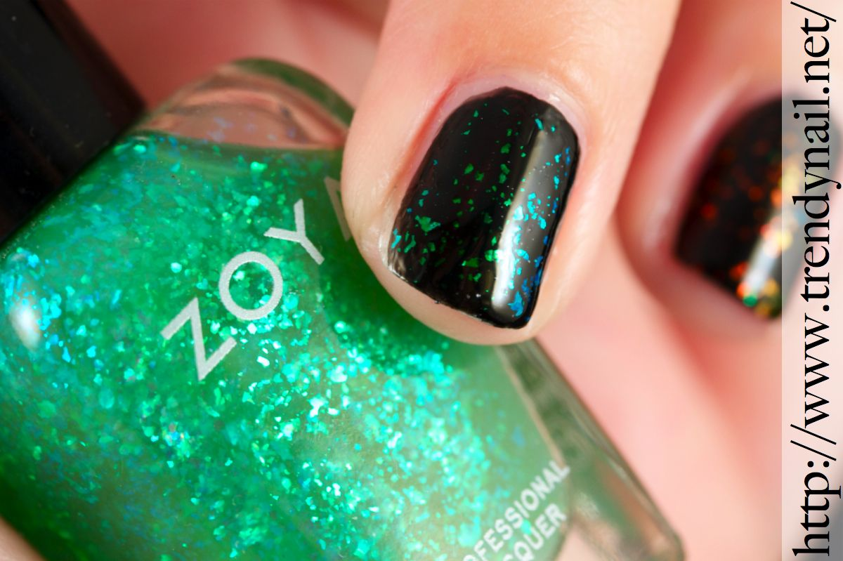 Trendy Nail: Flakes Nail polish.... Party with Zoya and Sephora ...