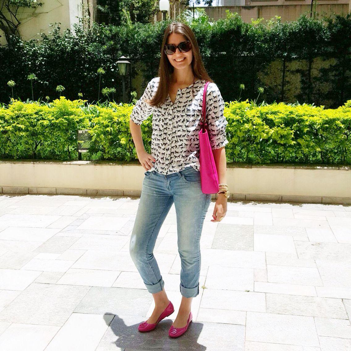 @lookbyus fashion look pink Rosa summer verao jeans desbotado camisa