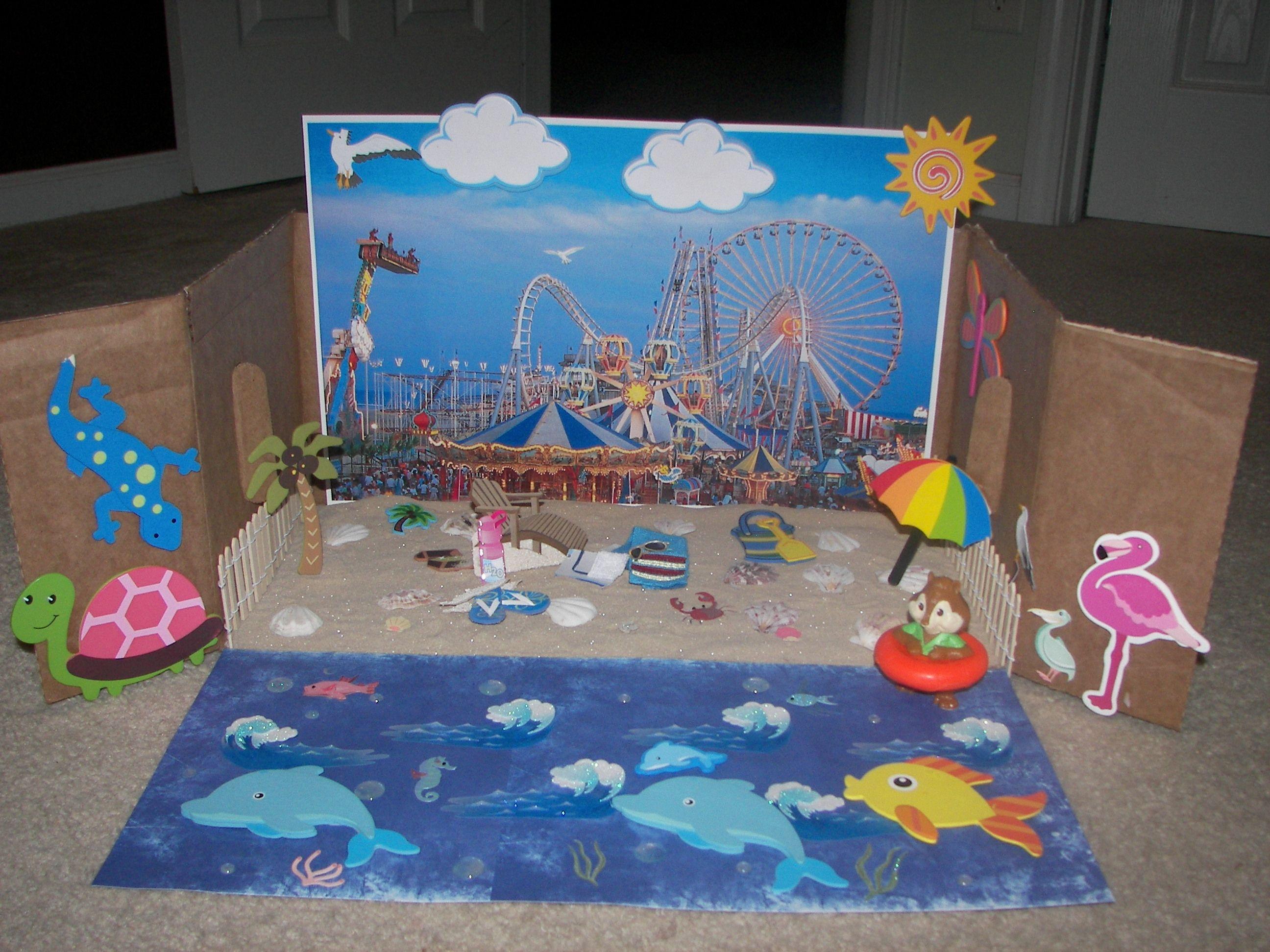 Kids Diorama With Details: Shoe / Diaper Box Diorama