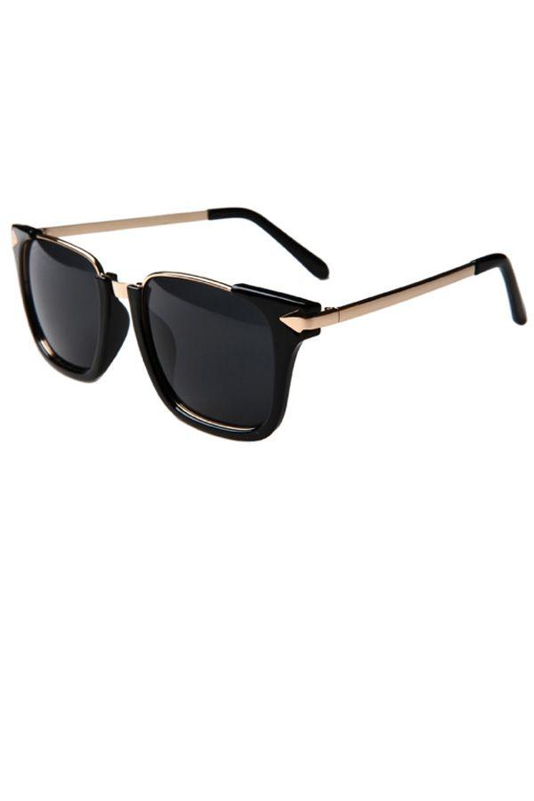 wayfarer metal frame  Metal Arrow Detail Wayfarer Sunglasses - OASAP.com