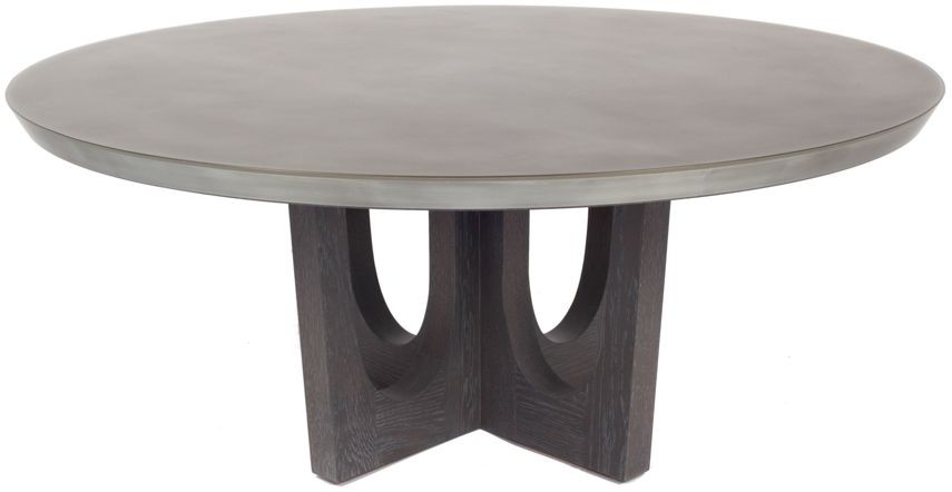 Merveilleux WUD Furniture | Grand Pedestal Coffee Table | Grey Stained White Oak And  Zinc Encased In Epoxy Resin