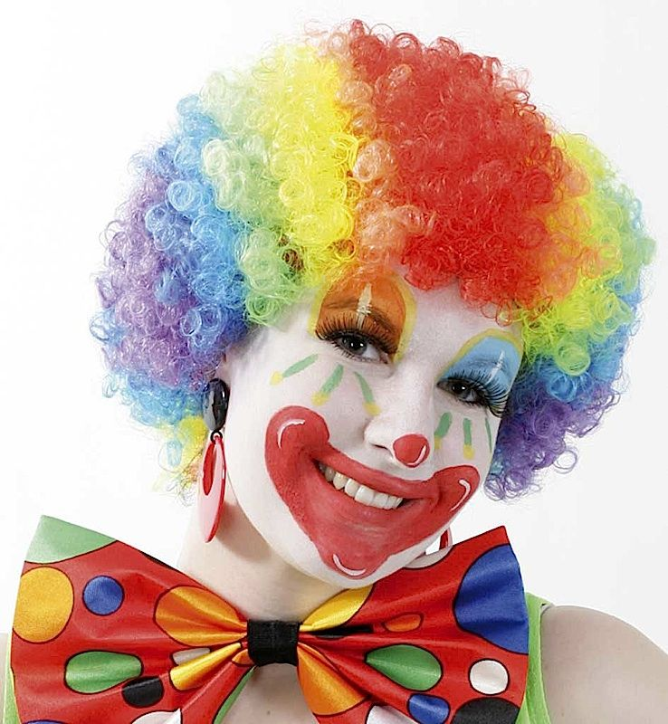 Fasching Clown Perucke Kunterbunt In 2018 Really Beautiful Clowns