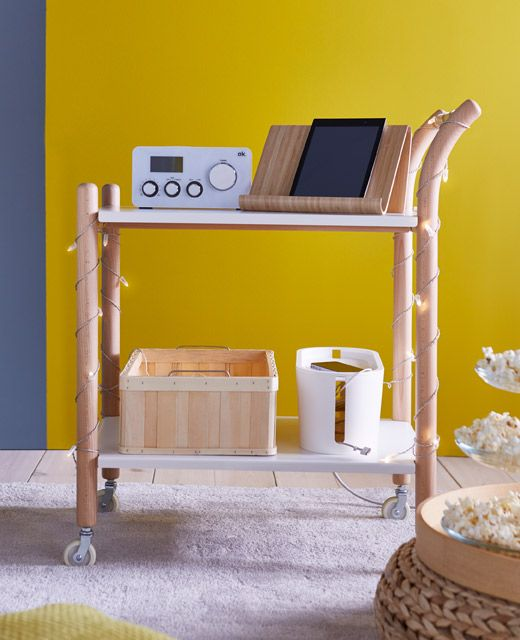 The Ikea Ps 2017 Side Table On Casters Can Be Used In Many Ways As A Work Station Coffee Kitchen Cart Or Nightstand