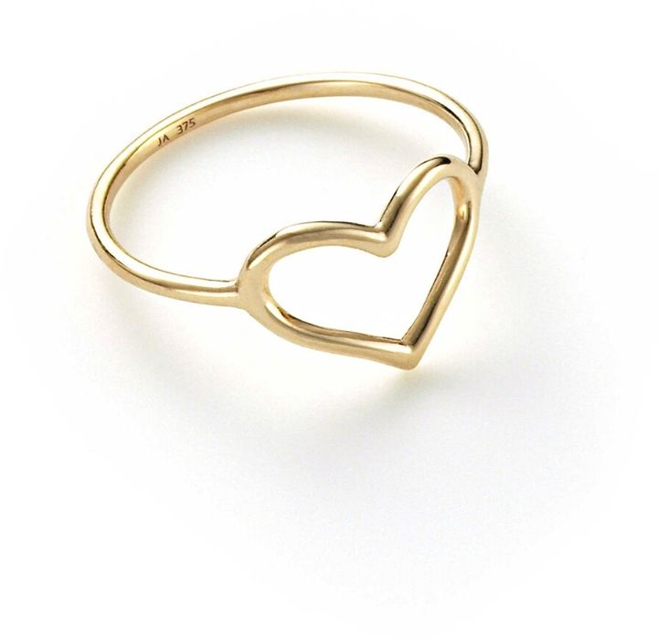 Jordan Askill Heart Outline Ring Yellow Gold