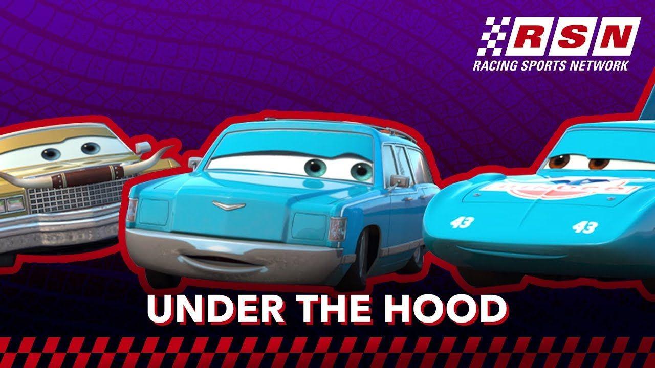 Under The Hood Dinoco Racing Sports Network By Disney Pixar Cars Disney Pixar Cars Disney Youtube Pixar Cars