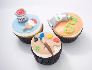 The Crimson Cake Blog Art  Paint Themed Cookies And Cupcakes - Birthday cakes encinitas