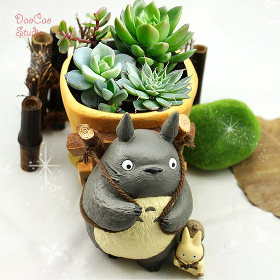 Fairy Garden Planter Pot , Big Totoro Back Basket , Miniature Ghibli Studio Fairy Garden Supplies Su is part of Fairy garden Planter -  S57 cm♥  ·¨¨· Ƹ̵̡Ӝ̵̨̄Ʒ ·¨¨· ♥ Thank You!!! ♥ ·¨¨· Ƹ̵̡Ӝ̵̨̄Ʒ ·¨¨·  ♥
