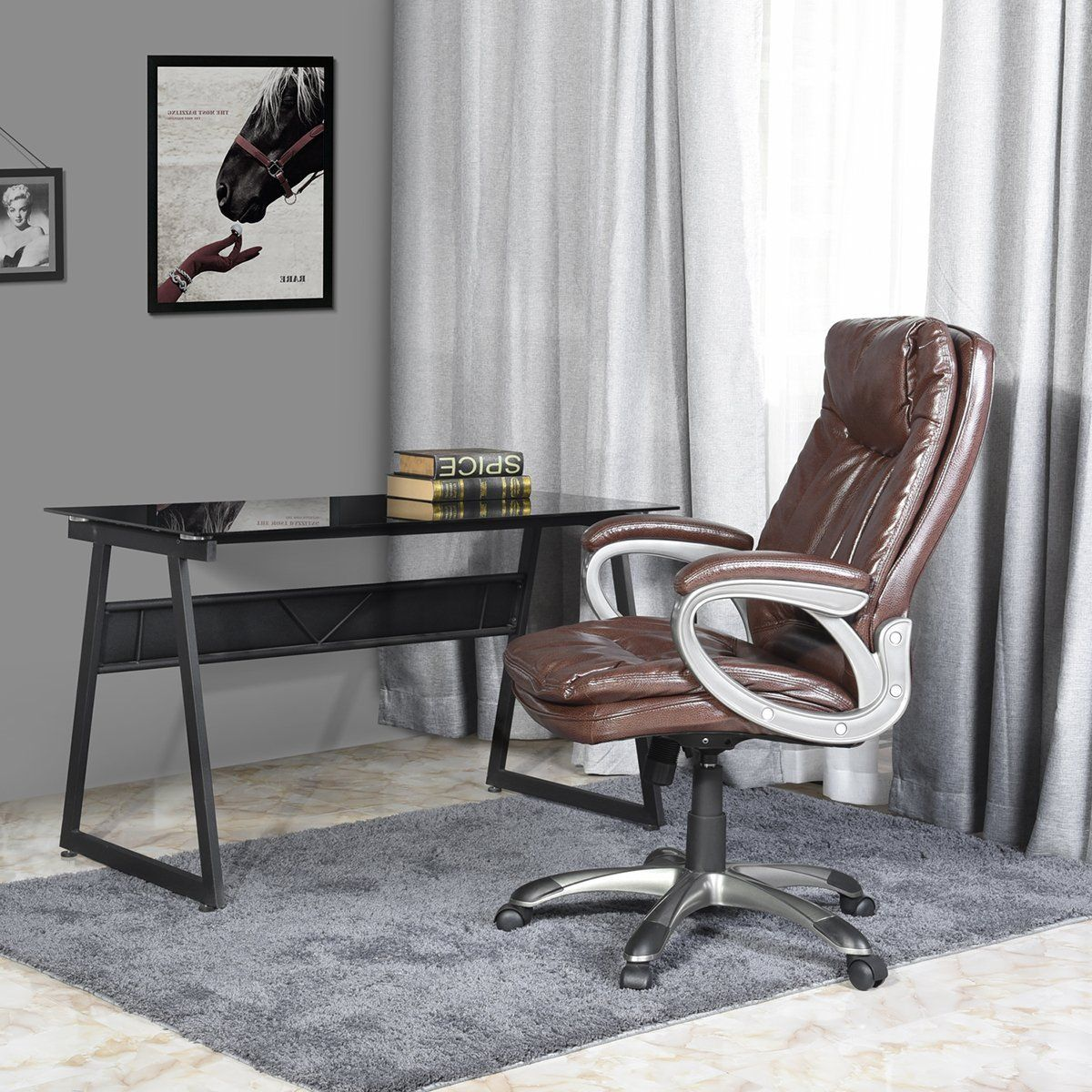 Aingoo Executive Office Chair Big and Tall with Wide and