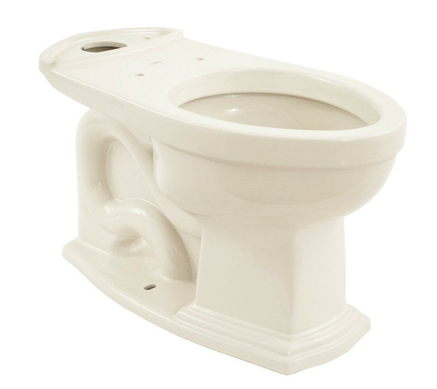 """Toto C784EF Elongated Bowl Only with 12"""" Rough-In for Toto Toilet CST784EF Colonial White Fixture Bowl Only Elongated"""
