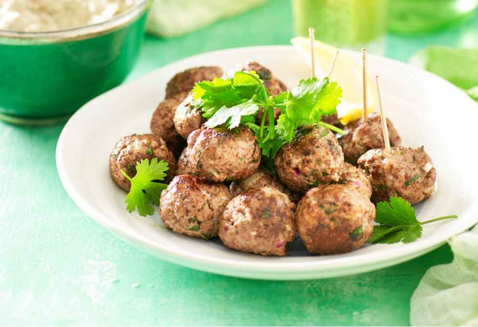 Middle Eastern Lamb Meatballs Recipe Foodiful Lamb Meatballs