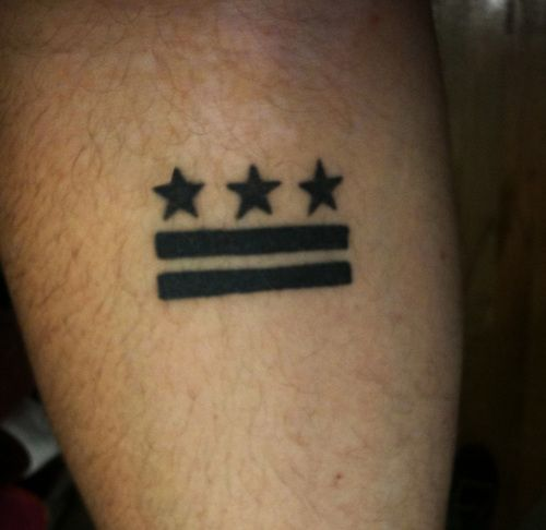 Dc Flag Just With Oars As The Bars Love My City