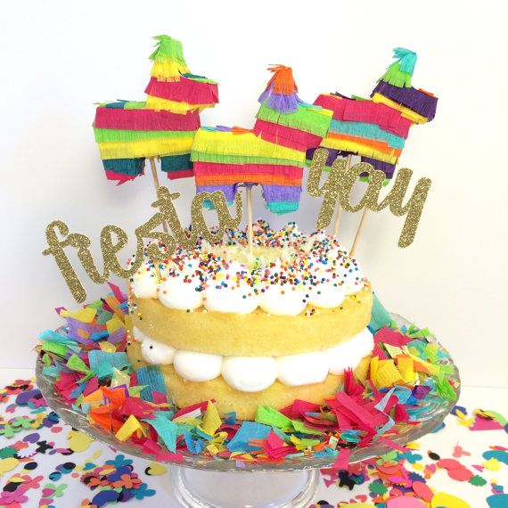 Mini Piñata Cake Toppers Cinco De Mayo Birthday Parties Wedding Fiesta Burro Set Of 3