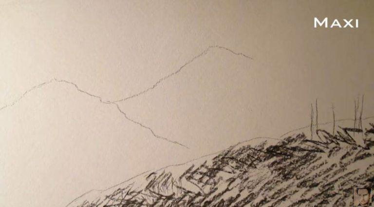 Paso 2 Para Aprender A Dibujar Paisajes A Carboncillo Como Aprender A Dibujar Paisaje A Lapiz Aprender A Dibujar