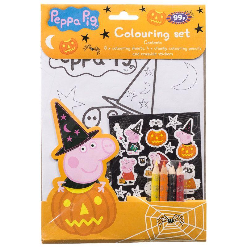 Peppa Pig Colouring Set. Enjoy a spooky Peppa Pig