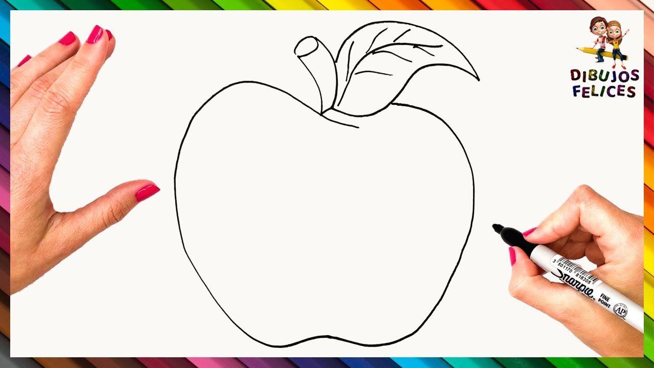Como Dibujar Una Manzana Paso A Paso Dibujo De Manzana Manzanas Dibujo Dibujos De Kakashi Dibujos De Frutas