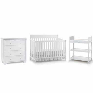 Graco Cribs 3 Piece Nursery Set   Stanton Convertible Crib, Sarah Changing  Table And Portland 4 Drawer Dresser In White $569