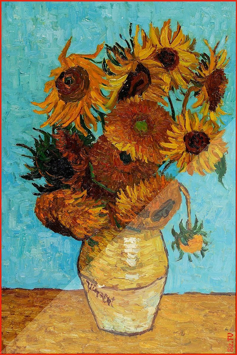 Vincent Van Gogh Oil Reproduction at overstockArt Sunflowers Vincent Van Gogh Oil Reproduction at overstockArt Rafaela Rafaela200400 sunflowers Van Gogh Sunflowers This i...