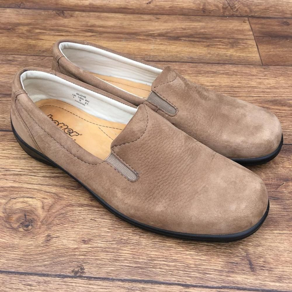Ebay uk leather work gloves - Details About Size Uk 7 Hotter Glove Womens Light Tan Nubuck Comfortable Slip On Casual Shoes