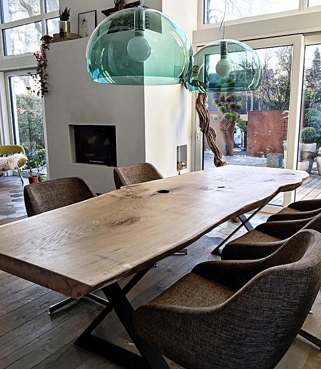 Esszimmer Tischlerei Winter: Holztisch Esstisch Eichentisch Unverleimt Aus Einem Stück