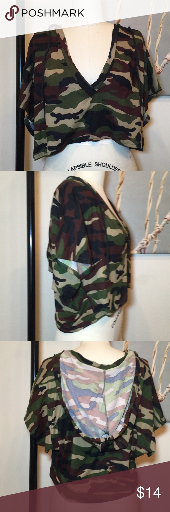 5f0ce4d62f6dad NWT Camo cropped hoodie This is seriously the softest light weight hoodie  you ll ever own. Cropped
