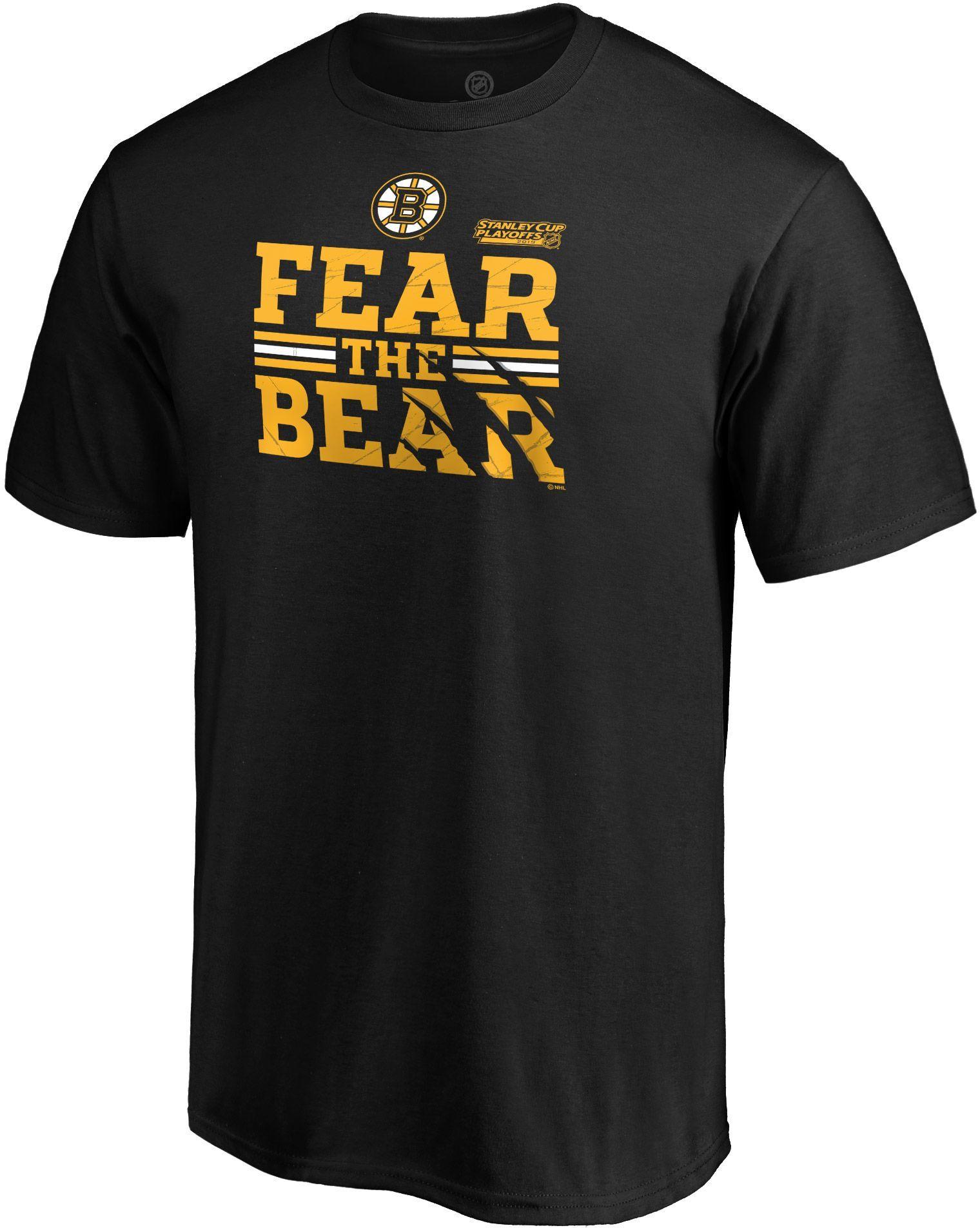 super popular 7c28c e91c0 NHL Men's Boston Bruins 2019 NHL Stanley Cup Playoffs 'Fear ...