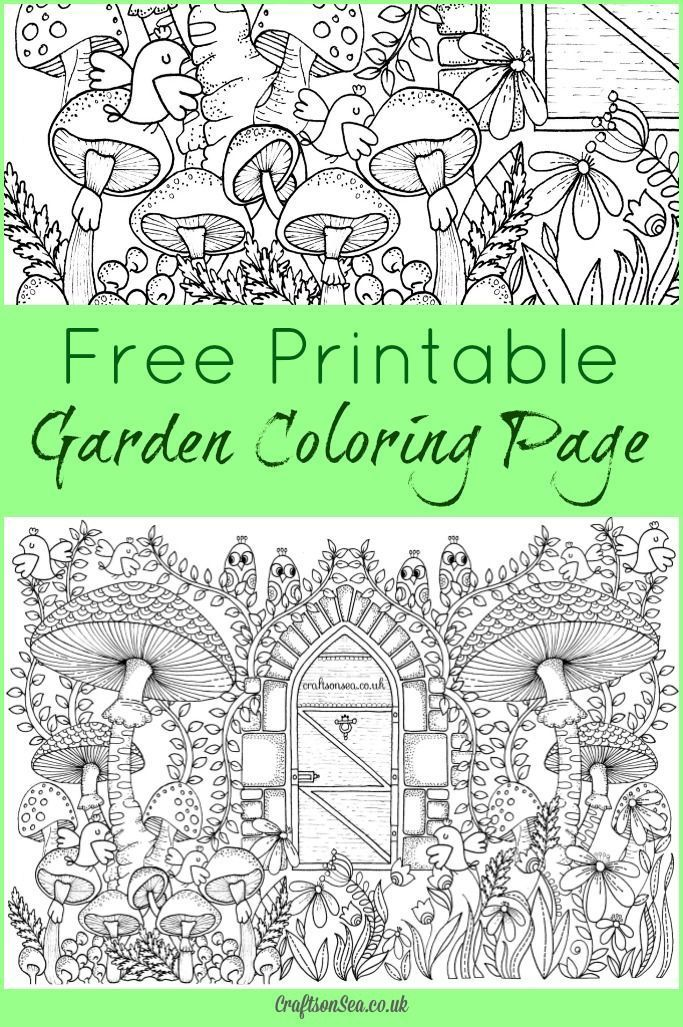 Free Garden Coloring Page for Adults | Pinterest | Adult coloring ...
