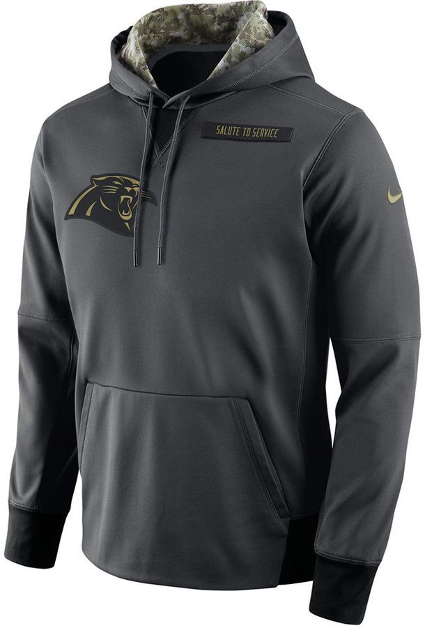 new product bc658 04eec Nike Men's Carolina Panthers Salute to Service Hoodie ...