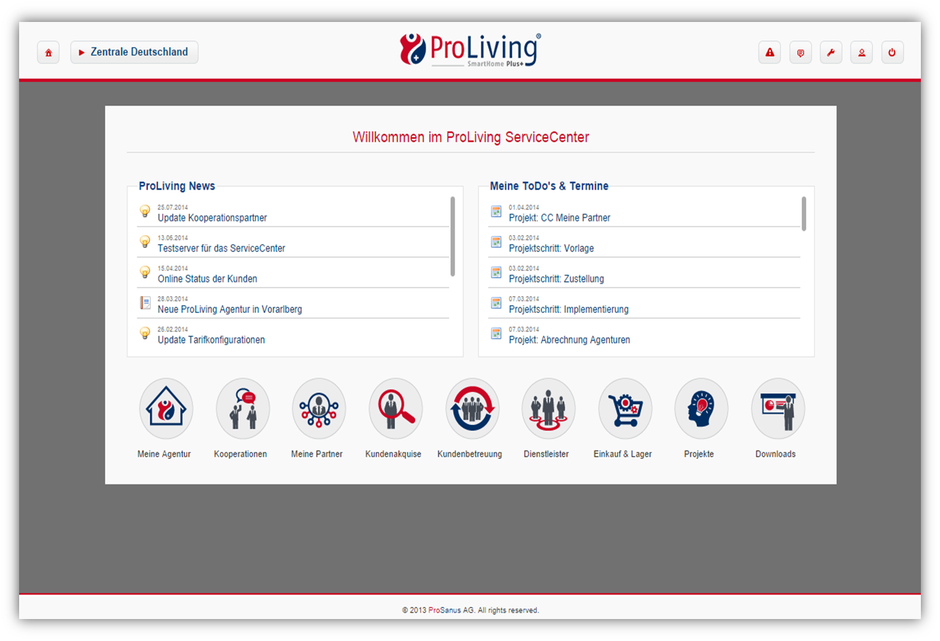 ProLiving Smart Home Plus+, Administrations- und Steuerungsserver ...