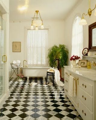 4 Black And White Bathrooms - Dig This Design