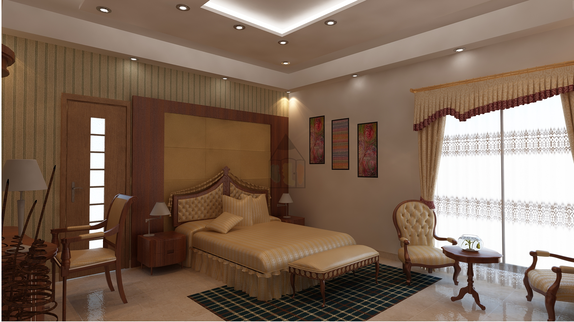 Pakistani bedroom design. In Pakistan, clients prefer their