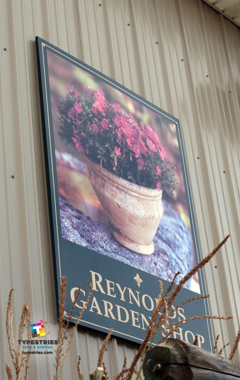 Reynolds Garden Shop Outdoor Pvc Building Sign With Reynolds