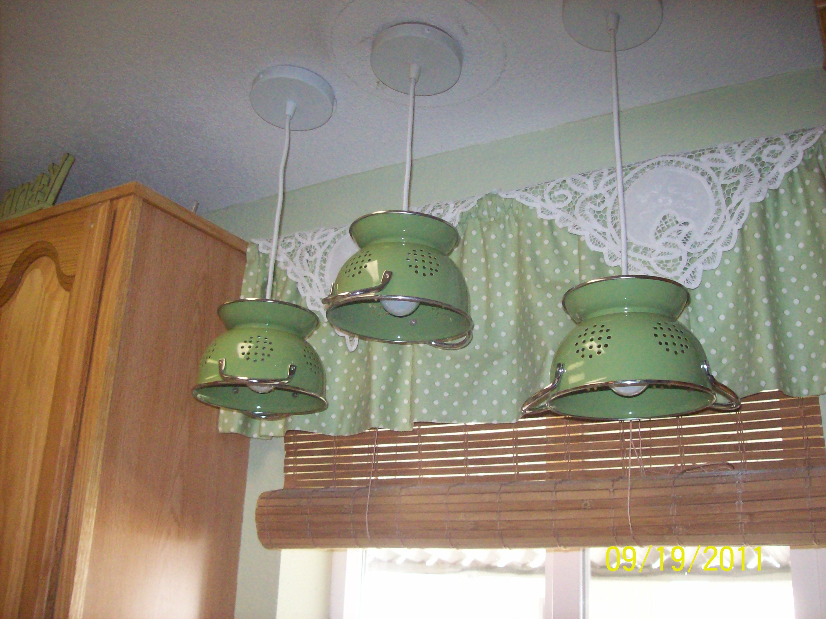 colander lights colander lightlighting superstorekitchen sinkskitchen - Kitchen Lights Above Sink