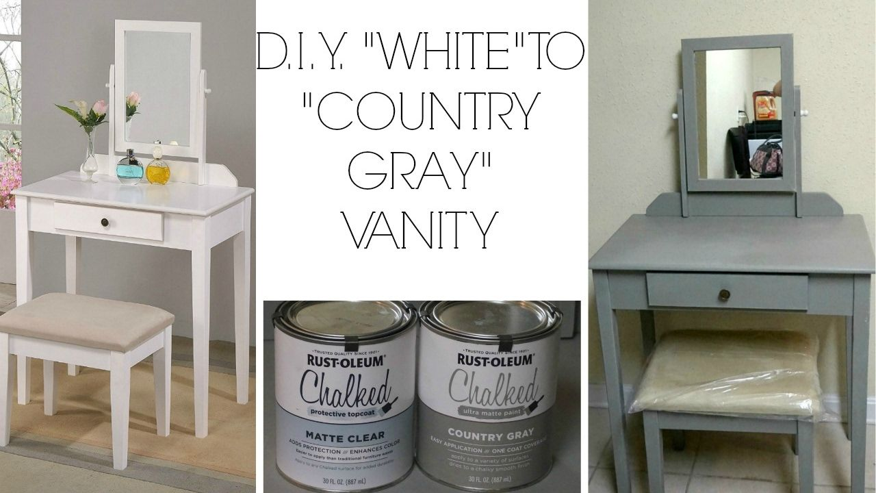 D I Y White To Country Gray Using Rustoleum Chalk Paint Rustoleum Chalk Paint Rustoleum Chalk Paint Colours Rustoleum Chalked