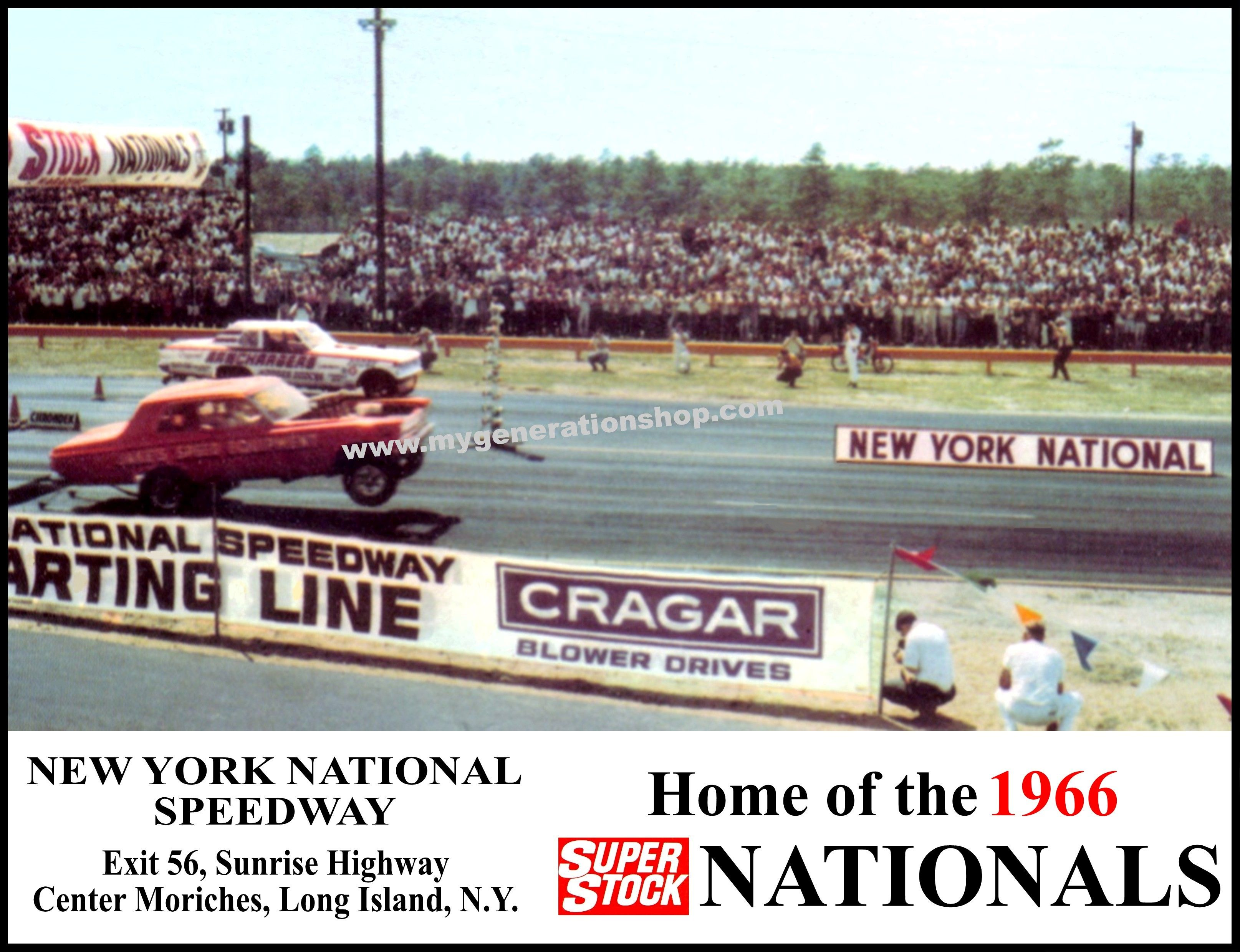 1966 Super Stock Nationals At New York National Speedway Drag Racing Speedway Racing