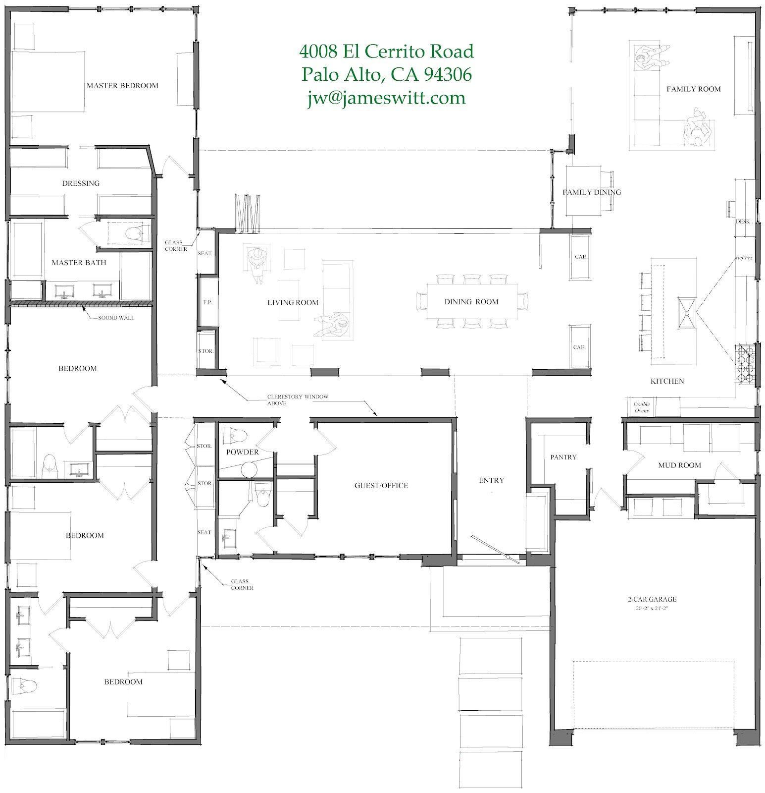 Elcerrito Floorplan Jpeg 1 545 1 600 Pixels 4 Bedroom House Plans U Shaped House Plans House Plans