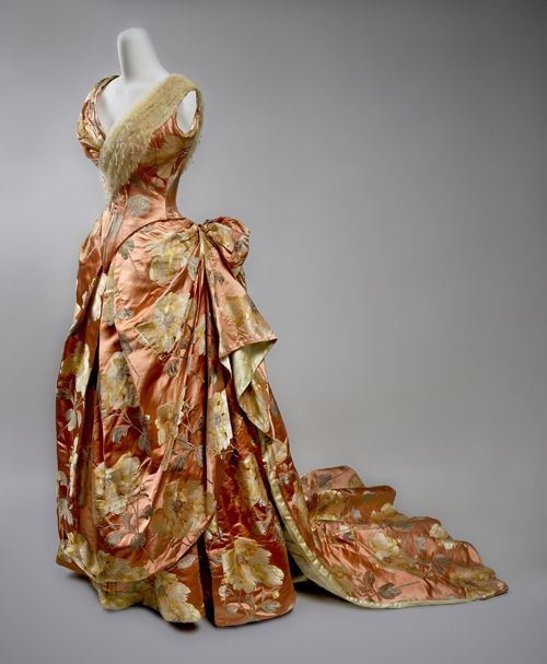 Silk Brocade Evening Gown, circa 1890, by House of Worth.
