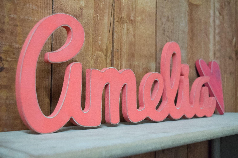 Amelia Baby Name Wooden Sign Nursery Decor Baby Name