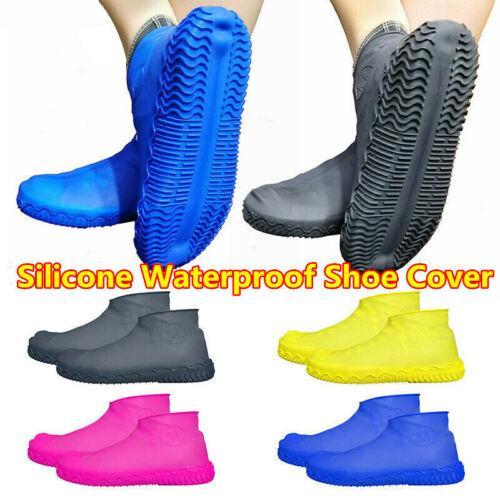 whatswhats Rain Gear Shoe Covers Boot Overshoes Waterproof Reusable Non-Slip for Women Men Travel