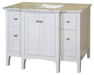 44 In Single Sink Vanity Wood White Cabinet Only Modern Bathroom Vanities And Sink Consoles By Corbel Un Bathroom Vanity 42 Inch Bathroom Vanity