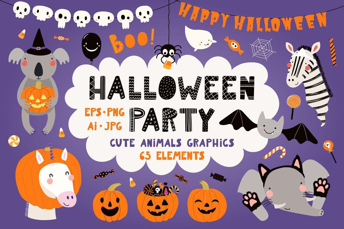 Halloween Party Cute Animals Clipart Cute Animal Clipart Cute Animals Clip Art