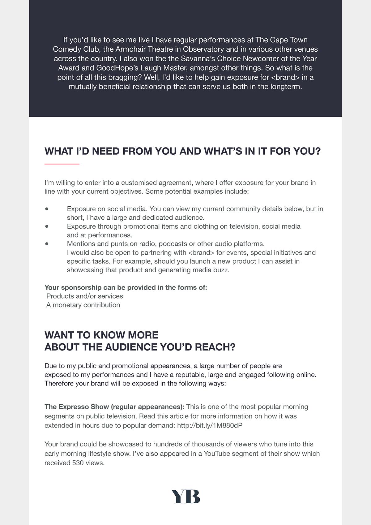 sponsorship proposal template sponsor benefits – Sponsorship Proposal Document