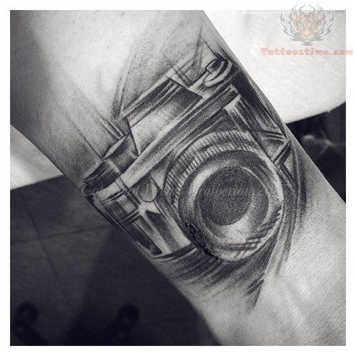 8020faf69 Black And White Camera Tattoo On Wrist beautiful--- would love to add some  film ribbon and a book