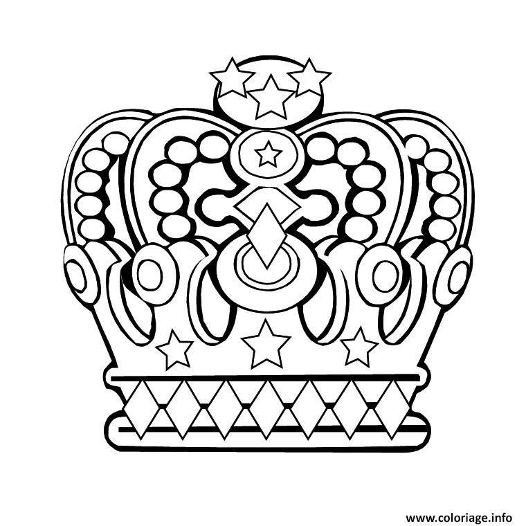Coloriage couronne des rois 3 Dessin à Imprimer (avec images