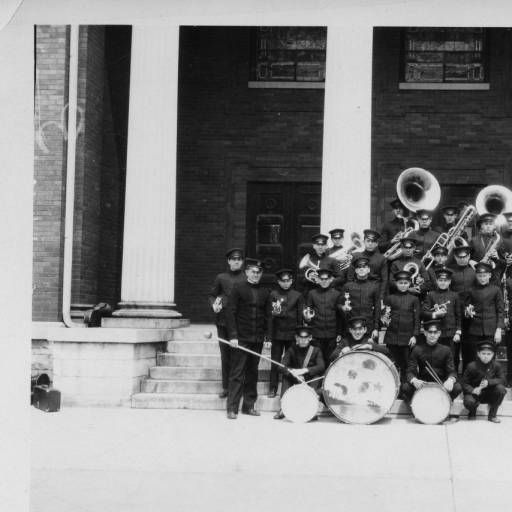 Band On The Steps Of First Presbyterian Church Rutherford County Health Department Collection Health Department Presbyterian Rutherford County