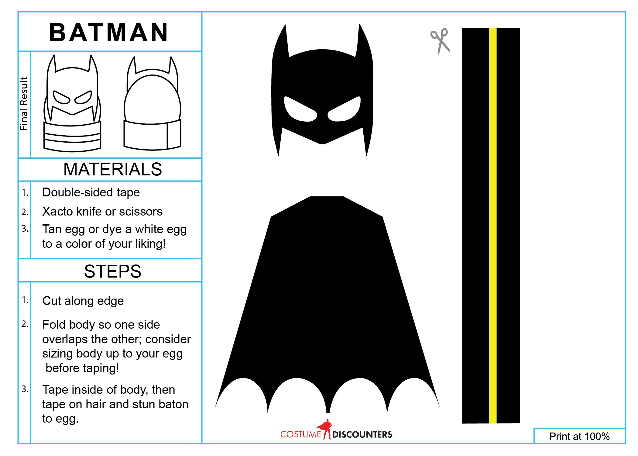 Dawn Of Just Eggs Easter Egg Costumes Printable Easter Egg Costume Batman Easter Basket Easter Eggs