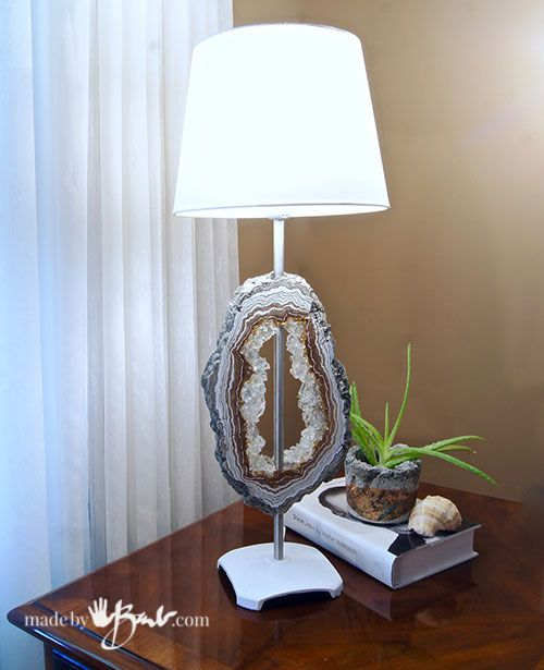DIY Concrete Faux Geode Lamp - Made By Barb - | Diy ...