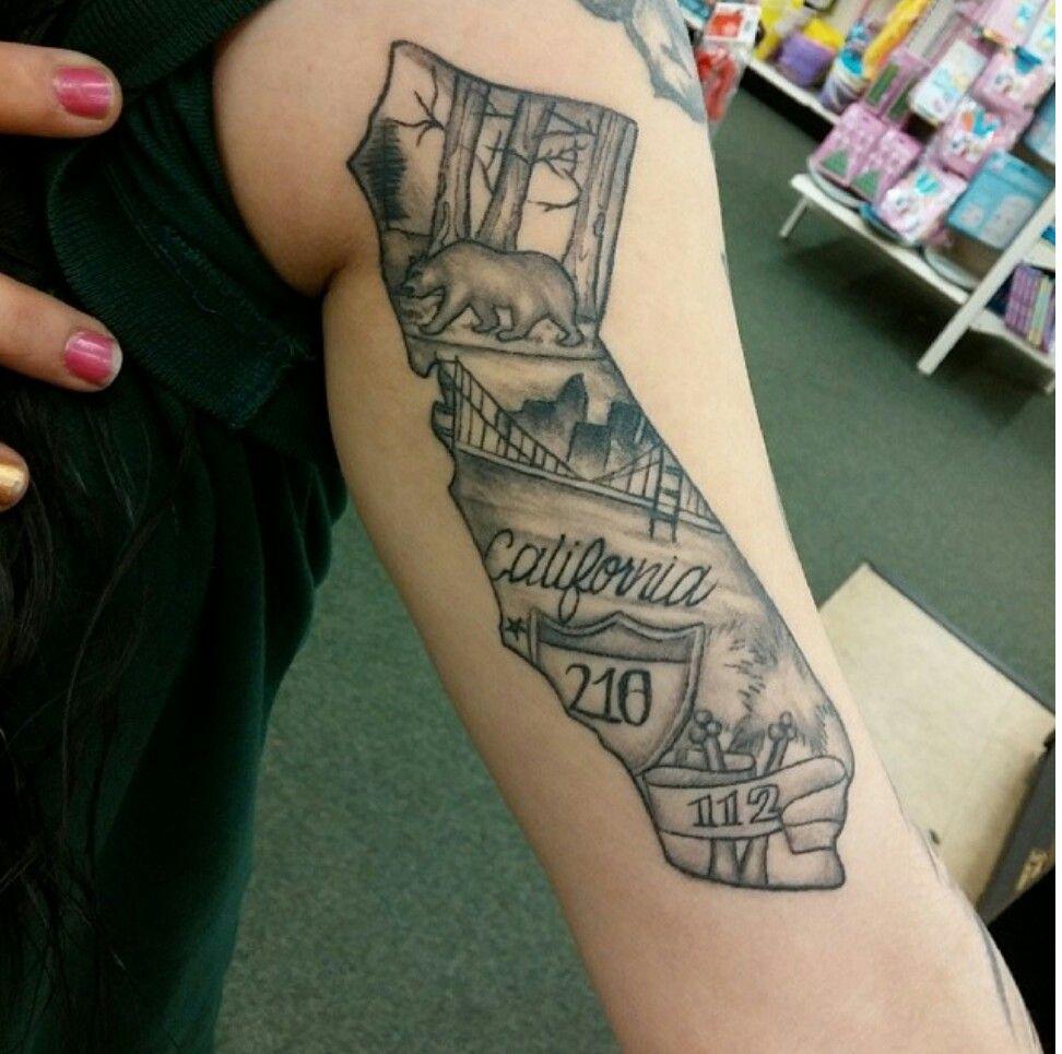California love state tattoos tattoos pride tattoo